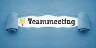 Papeleo con teammeeting foto de archivo