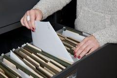Papeleo de la clasificación Foto de archivo libre de regalías