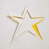Papeleo de la estrella del recorte fotografía de archivo