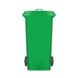 Papelera de reciclaje moderna verde Imagen de archivo
