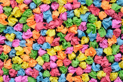Papeles arrugados coloridos Foto de archivo libre de regalías