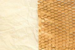 Papeles arrugados espacio en blanco reciclados viejos Imagen de archivo libre de regalías