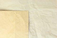 Papeles arrugados espacio en blanco reciclados viejos Fotografía de archivo
