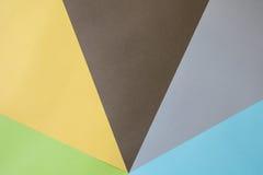 Papeles coloreados fotografía de archivo libre de regalías