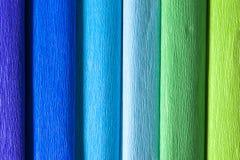 Papeles de crepé coloridos Foto de archivo libre de regalías
