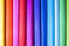 Papeles de crepé coloridos Imagen de archivo
