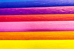 Papeles de crepé coloridos Imágenes de archivo libres de regalías