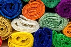 Papeles de crepe coloridos Foto de archivo libre de regalías