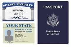 Papeles de identificación Imagen de archivo libre de regalías