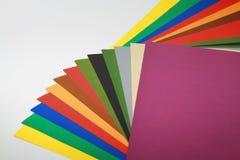 Papeles de los colores Imágenes de archivo libres de regalías