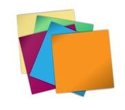 Papeles de nota Imagen de archivo libre de regalías