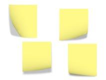 Papeles de nota Foto de archivo