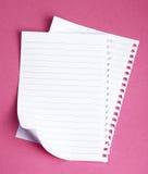 Papeles de nota Fotos de archivo libres de regalías