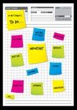Papeles de nota Imagenes de archivo