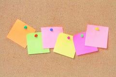 Papeles de nota adhesivos Imágenes de archivo libres de regalías