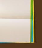 Papeles de nota del color imágenes de archivo libres de regalías