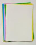 Papeles de nota del color Fotografía de archivo libre de regalías