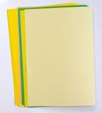 Papeles de nota del color fotos de archivo