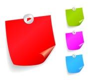 Papeles de nota del vector Imagen de archivo libre de regalías