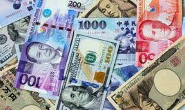 Papeles del dinero fotos de archivo