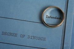 Papeles del divorcio imagen de archivo libre de regalías