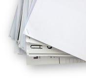 Papeles del documento foto de archivo