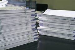 Papeles del folleto fotos de archivo libres de regalías