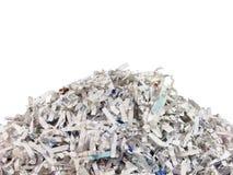 Papeles destrozados Imagen de archivo libre de regalías