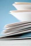 Papeles en blanco Imágenes de archivo libres de regalías