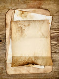 Papeles en blanco viejos Fotos de archivo