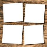Papeles en la madera Imágenes de archivo libres de regalías