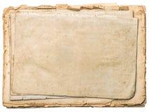 Papeles envejecidos con los bordes aislados en blanco Páginas del libro del vintage imágenes de archivo libres de regalías