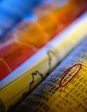 Papeles financieros Imagen de archivo libre de regalías
