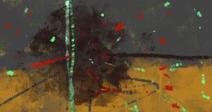 Papeles móviles del partido del ejemplo del fondo de la festividad en la pintura digital del aire ilustración del vector