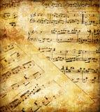 Papeles musicales Foto de archivo libre de regalías