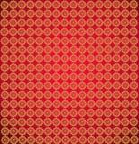 Papeles pintados con los modelos rojos abstractos redondos Fotos de archivo