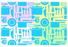 Papeles pintados de la cocina, vector Imagen de archivo