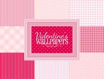 Papeles pintados de las tarjetas del día de San Valentín Fotografía de archivo