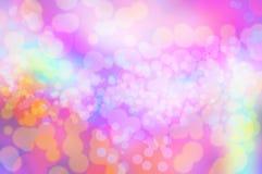 Papeles pintados y fondo de la textura del bokeh del arco iris de Blure Imagen de archivo