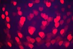 Papeles pintados y fondo del corazón del bokeh de Blure Imágenes de archivo libres de regalías