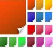 Papeles realistas coloridos del borde rizado Foto de archivo