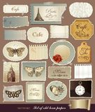 Papeles textured viejos con los bordes rasgados Foto de archivo