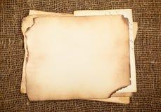 Papeles viejos Imágenes de archivo libres de regalías
