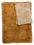 Papeles viejos aislados en blanco Fotografía de archivo libre de regalías