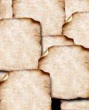 Papeles viejos con los bordes quemados Imagen de archivo libre de regalías