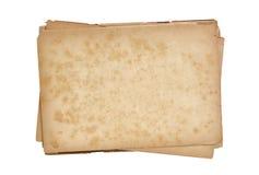 Papeles viejos de la pila aislados Imágenes de archivo libres de regalías