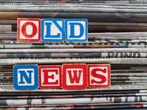 Papeles viejos de las noticias Fotografía de archivo libre de regalías