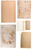 Papeles viejos en blanco fijados Imagenes de archivo