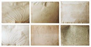 Papeles viejos fijados Foto de archivo libre de regalías