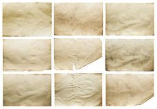 Papeles viejos fijados Imagen de archivo